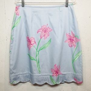 Lilly Pulitzer   VINTAGE scalloped hem skirt